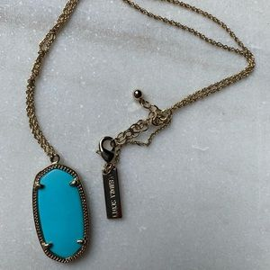 Turquoise and Gold Kendra Scott Necklace